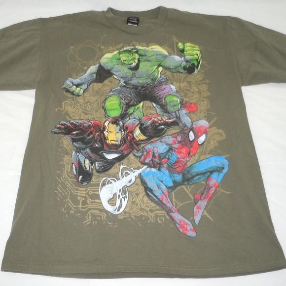 4132b358483 ... t shirt superheroes superhero Source · Marvel Shirts Superhero Tshirt  Spiderman Hulk Iron Man Poshmark